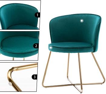 Duhome Velvet Cushion Chair