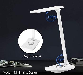 HDTIME-White Desk Lamp with USB