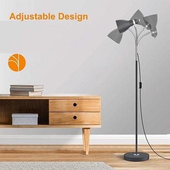 LEPOWER Metal Floor Lamp, Adjustable
