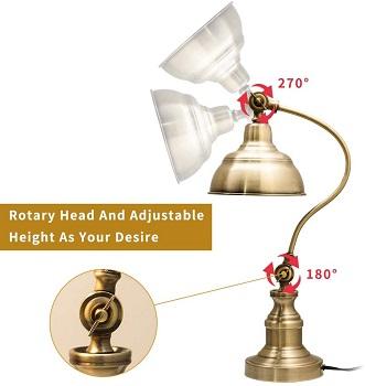 MELUNAR Brass Desk Lamp