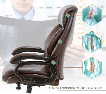 Qwork Leather Executive Chair