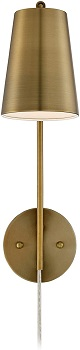 Brass Desk Lamp, Adjustable Table Lamp, Vintage