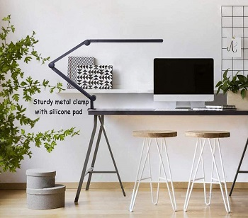 amazlit Desk Lamp with Clamp, Eye-Care
