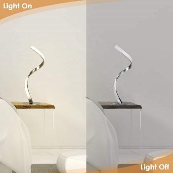 Albrillo Spiral Design LED Table Lamp