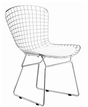 BEST ARMLESS MESH WIRE CHAIR