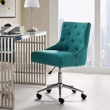 BEST ARMLESS UPHOLSTERED EXECUTIVE OFFICE CHAIR