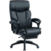 BEST ARMRESTS BLACK LEATHER OFFICE CHAIR WITH WHEELS Summary