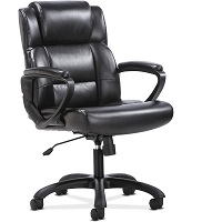 BEST BACK SUPPORT BLACK LEATHER OFFICE CHAIR WITH WHEELS Summary