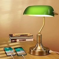 BEST BANKER'S GREEN GLASS DESK LAMP picks