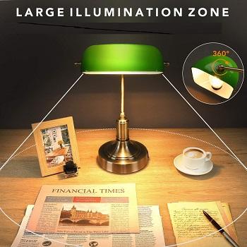 BEST BANKER'S GREEN GLASS DESK LAMP
