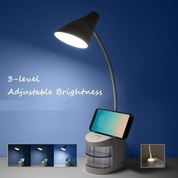 BEST BATTERY OPERATED DESK LAMP WITH STORAGE