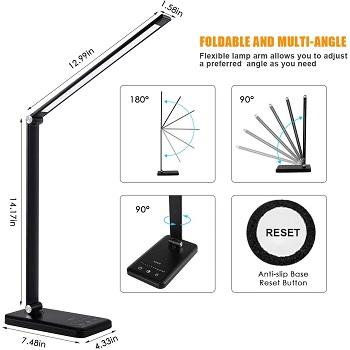 BEST BATTERY-OPERATED MODERN BLACK DESK LAMP