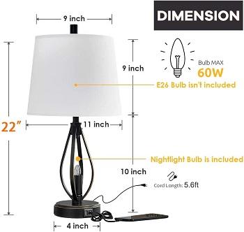BEST BEDROOM MODERN FARMHOUSE LAMP
