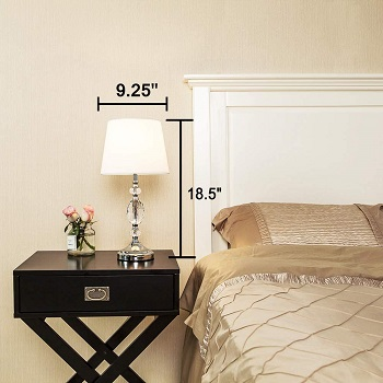 BEST BEDSIDE CRYSTAL DESK LAMP