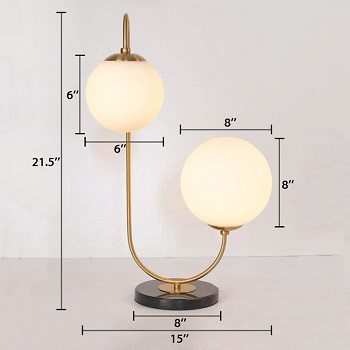 BEST BEDSIDE DOUBLE DESK LAMP