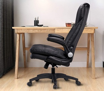 BEST BLACK LEATHER ROLLING CHAIR