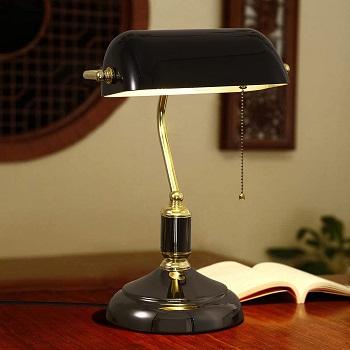 BEST BLACK MODERN BANKERS LAMP