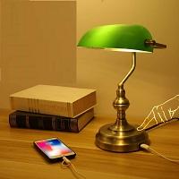 BEST BRASS GREEN GLASS DESK LAMP picks