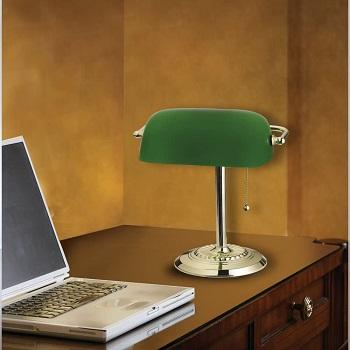 BEST BRASS GREEN LAWYER LAMP