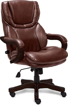 BEST BROWN LEATHER ROLLING CHAIR