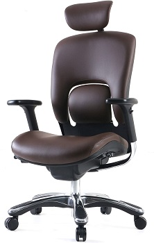 BEST BROWN LEATHER SWIVEL OFFICE CHAIR
