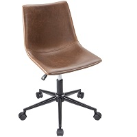 BEST BROWN SMALL LEATHER DESK CHAIR Summary