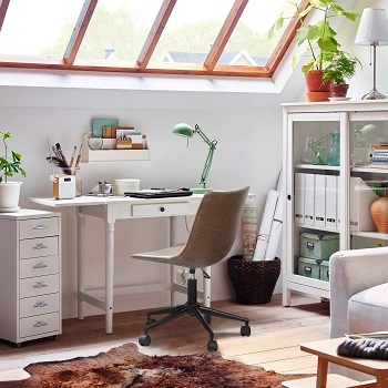 BEST BROWN SMALL LEATHER DESK CHAIR