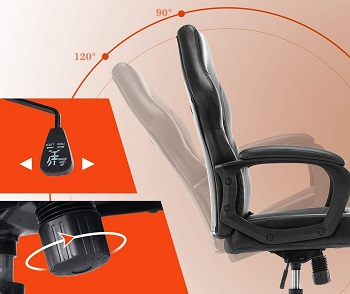 BEST CHEAP BLACK LEATHER OFFICE CHAIR WITH WHEELS