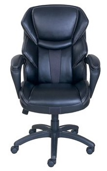 BEST ERGONOMIC BLACK LEATHER OFFICE CHAIR WITH WHEELS