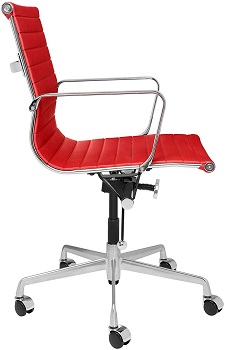 BEST ERGONOMIC RED LEATHER OFFICE CHAIR