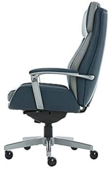 BEST EXECUTIVE BLUE LEATHER OFFICE CHAIR