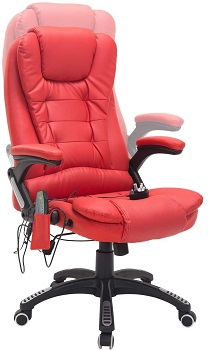 BEST EXECUTIVE RED LEATHER OFFICE CHAIR