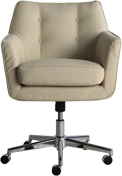 BEST FAUX LEATHER CREAM LEATHER DESK CHAIR