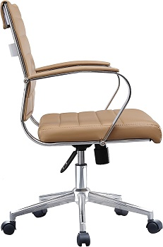 BEST FAUX LEATHER TAN LEATHER OFFICE CHAIR
