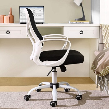 BEST FOR STUDY BLACK AND WHITE COMPUTER CHAIR