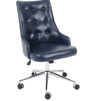 BEST FOR STUDY BLUE LEATHER DESK CHAIR Summary