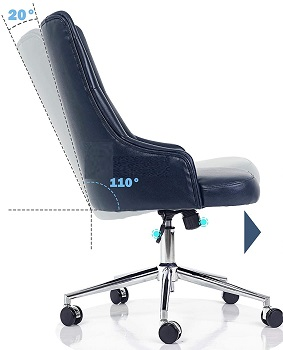 BEST FOR STUDY BLUE LEATHER DESK CHAIR