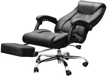 BEST FOR STUDY LEATHER OFFICE CHAIR WITH LUMBAR SUPPORT