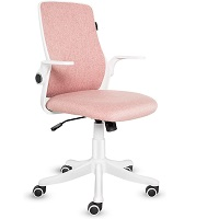 BEST FOR STUDY PINK UPHOLSTERED DESK CHAIR Summary