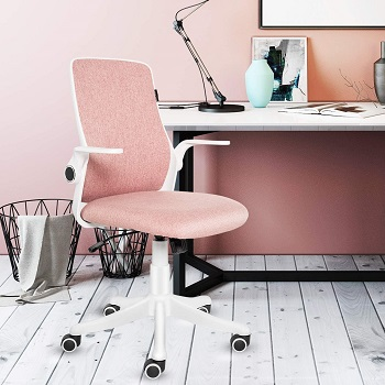 BEST FOR STUDY PINK UPHOLSTERED DESK CHAIR