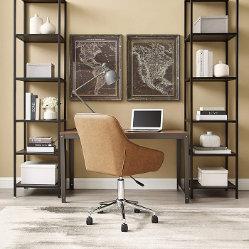 BEST FOR STUDY SMALL LEATHER DESK CHAIR