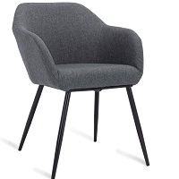 BEST GREY FABRIC DESK CHAIR WITH ARMS Summary
