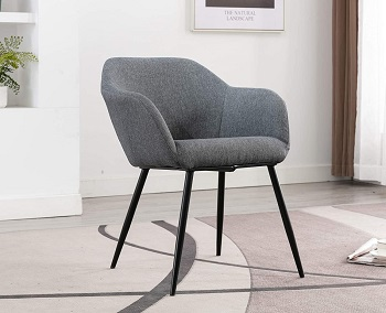 BEST GREY FABRIC DESK CHAIR WITH ARMS