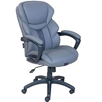 BEST GREY LEATHER DESK CHAIR WITH ARMS Summary