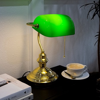 BEST HOME BRASS BANKERS LAMP