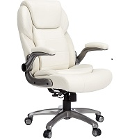 BEST LEATHER OFFICE CHAIR WITH FLIPPABLE ARMS Summary