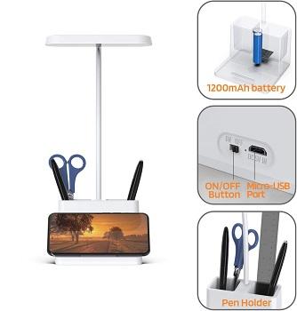 BEST LED DESK LAMP WITH ORGANIZER