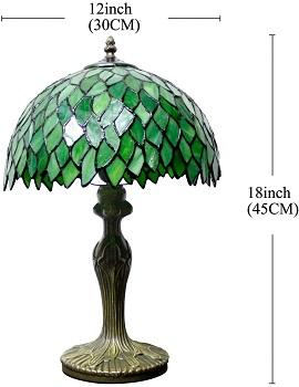 BEST LED GREEN GLASS DESK LAMP