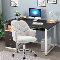 BEST LINEN FABRIC DESK CHAIR WITH WHEELS Summary