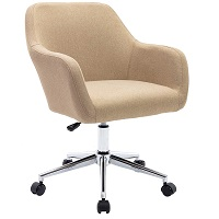 BEST LINEN FABRIC OFFICE CHAIR WITH ARMS Summary